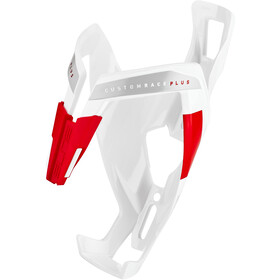 Elite Custom Race Plus Flaskeholder, glossy white/red design